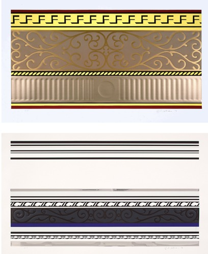 Roy Lichtenstein-Entablature II; Entablature IX-1976