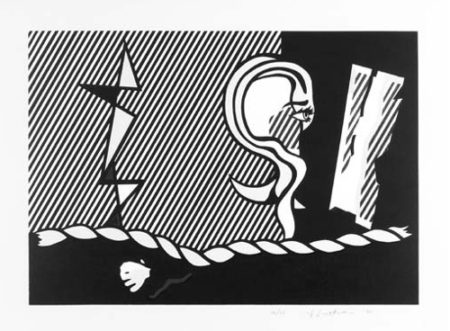 Roy Lichtenstein-Figures with Rope-1978