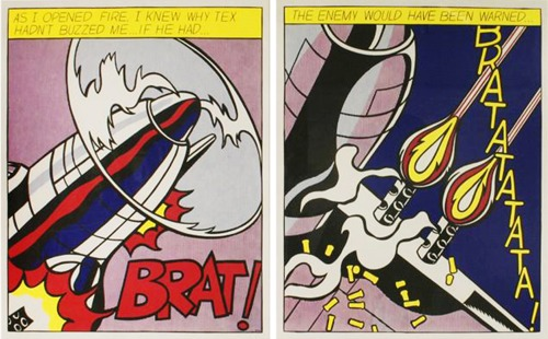 Roy Lichtenstein-From: As I opened fire-1966