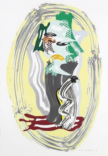 Roy Lichtenstein-Green Face, from Brushstroke Figure Series-1989