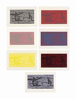 Roy Lichtenstein-Haystack #1-7 from Haystack Series-1969