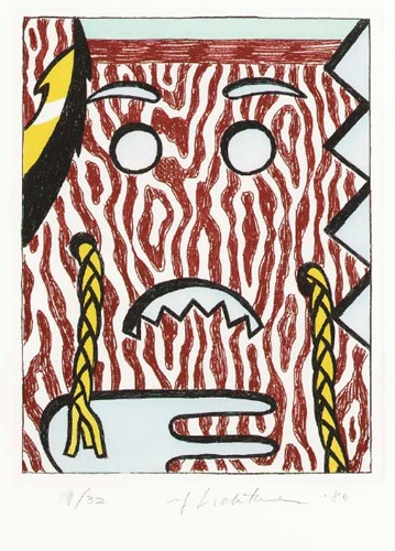 Roy Lichtenstein-Head with Braids-1980