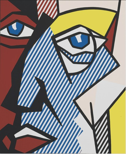 Roy Lichtenstein-Head with Monocle-1980