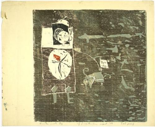 Roy Lichtenstein-Hunter with Dog-1951