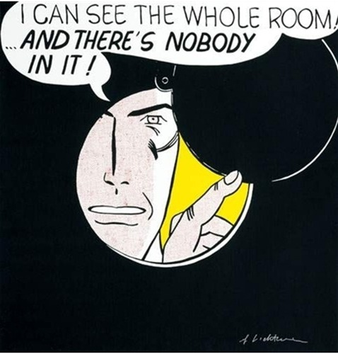 Roy Lichtenstein-I Can See The Whole Room-