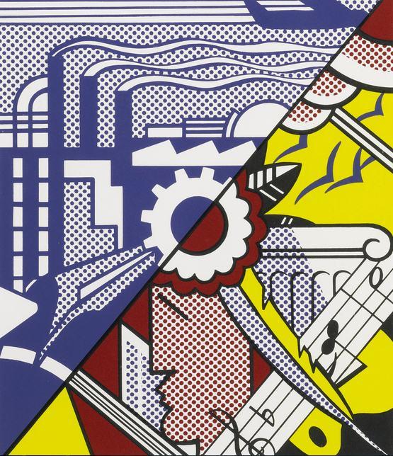 Roy Lichtenstein-Industry And The Arts (II) (Corlett 86)-1969