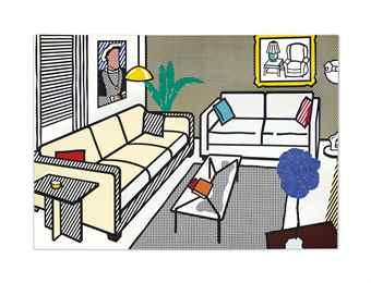 Roy Lichtenstein-Interior with Yves Klein Sculpture-1991