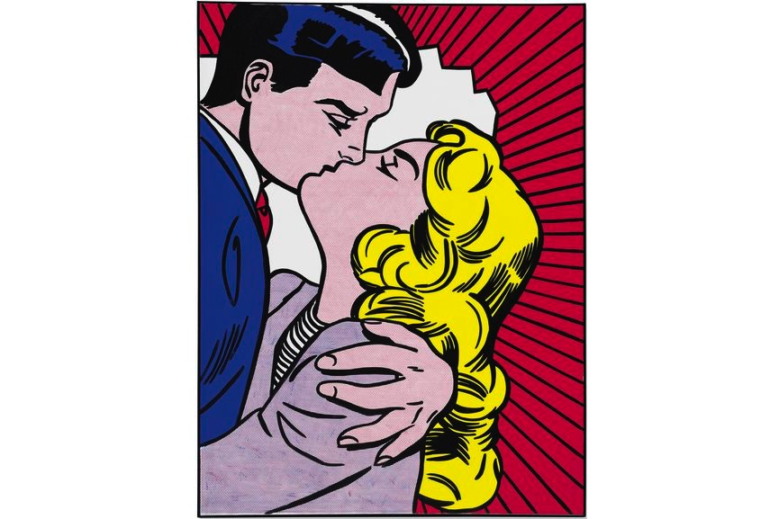 Roy Lichtenstein - Kiss III, 1962