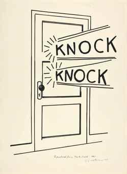 Roy Lichtenstein-Knock, Knock-1975
