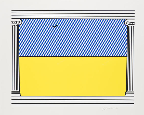 Roy Lichtenstein-Liberte, from Memoire de la Liberte-1991