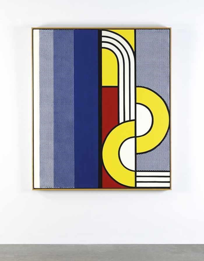 Roy Lichtenstein-Modern Painting With Yellow Interweave-1967