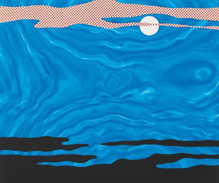 Roy Lichtenstein-Moonscape, from 11 Pop Artists, Volume I-1965
