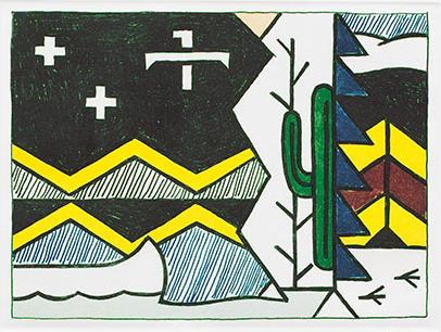 Roy Lichtenstein-Night Scene-1980
