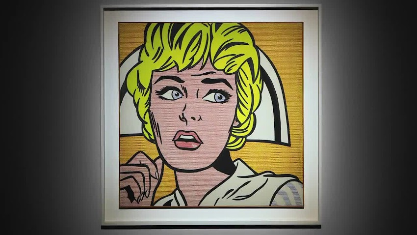 Roy Lichtenstein - Nurse, 1964, installation view, Andy Warhol 1967