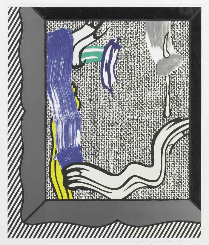 Roy Lichtenstein-Painting On Canvas-1984