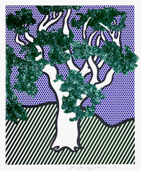 Roy Lichtenstein-Rain Forest-1992
