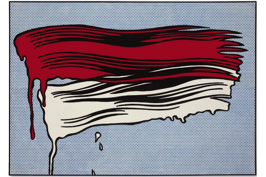 Roy Lichtenstein - Red And White Brushstrokes, 1965