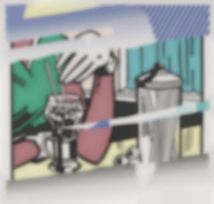 Roy Lichtenstein-Reflections On Soda Fountain-1991