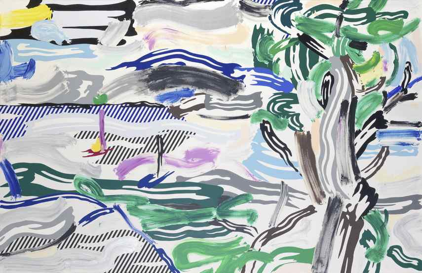 Roy Lichtenstein - River Scene