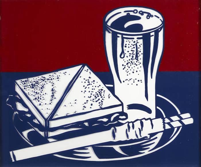 Roy Lichtenstein-Sandwich and Soda (Lunch Counter) from Ten Works by Ten Painters-1964