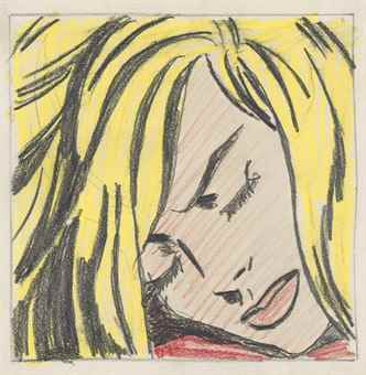 Roy Lichtenstein-Sleeping Girl (Study)-1964