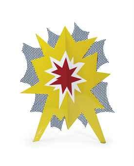 Roy Lichtenstein-Standing Explosion #2 (Yellow)-1966