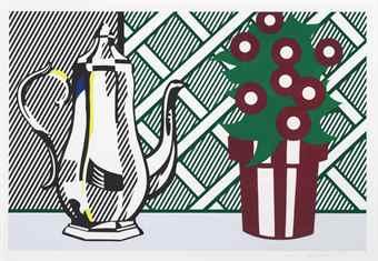 Roy Lichtenstein-Still Life with Pitcher and Flowers-1974