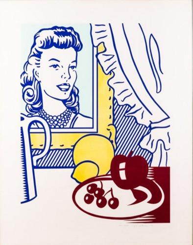 Roy Lichtenstein-Still Life with Portrait-1974