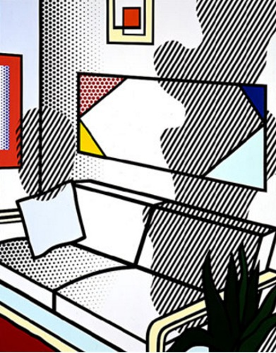 Roy Lichtenstein-Strange Hotel (Interior With Shadow)-1993