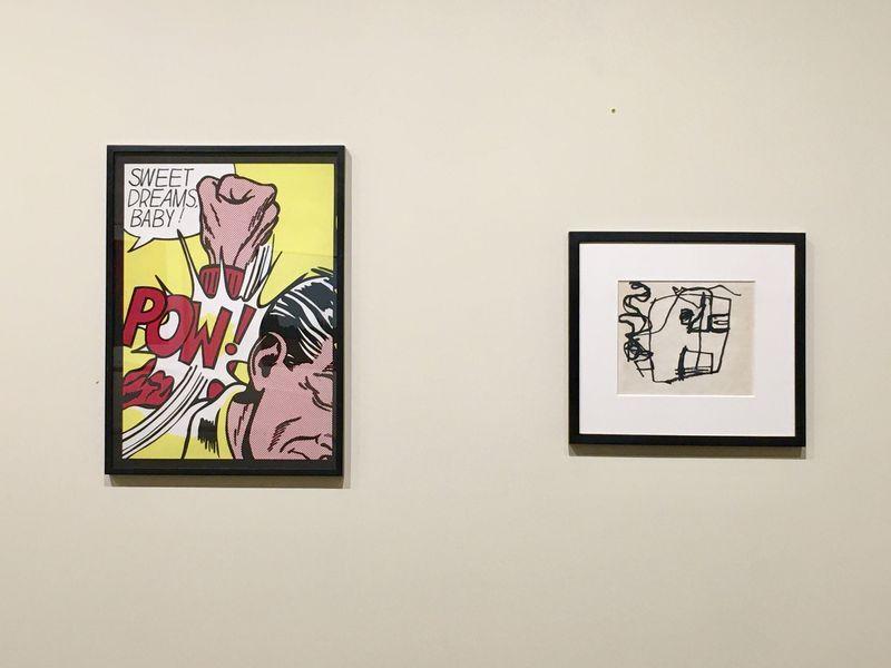 Roy Lichtenstein - Sweet Dreams Baby, 11 Pop Artists, 1969 and Franz Kline - Study of a Head, 1947 – 1949