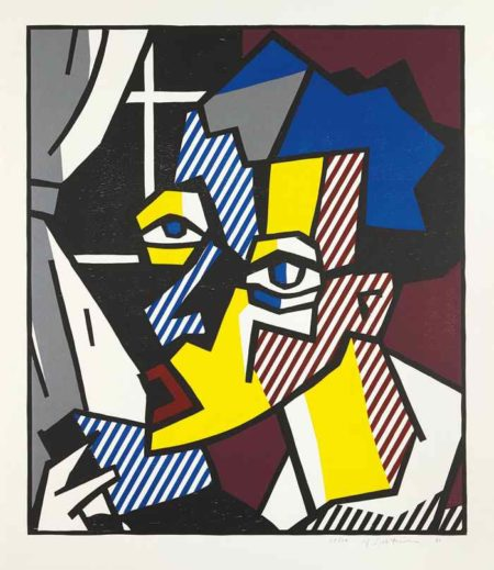 Roy Lichtenstein-The Student, from The Expressionist Woodcut Series-1980