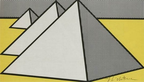 Roy Lichtenstein-The great pyramids-1969