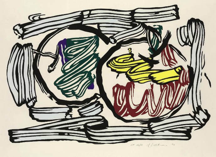 Roy Lichtenstein-Two Apples, from Seven Apple Woodcut Series-1983