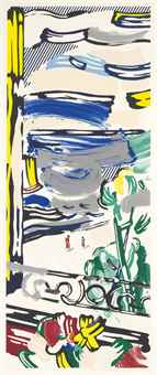 Roy Lichtenstein-View from the Window, from Landscapes-1985