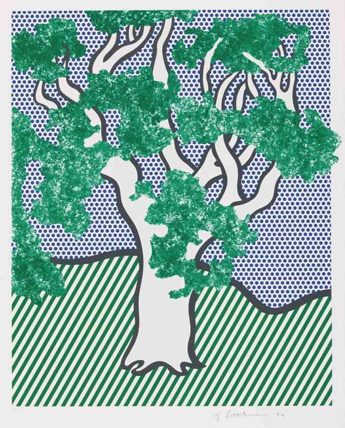 Jesus Rafael Soto-Sandro Chia-Roy Lichtenstein-Nam June Paik-Robert Mangold-Claus Otto Paeffgen-Hanne Darboven-Robert Longo-Kenny Scharf-Antoni Tapies-Mimmo Paladino-Joseph Beuys-Christo and Jeanne-Claude-Sigmar Polke-Roy Lichtenstein and various artists - The Columbus Portfolio Including Lichtenstein'S Rain Forest-1992