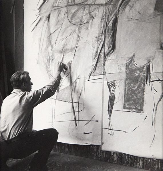 Rudy Burckhardt - Willem de Kooning Drawing Woman I, 1950