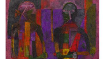 Rufino Tamayo - Dos Personajes, 1970
