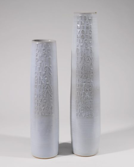 Rupert Spira-Two Cylindrical Poem Vases-