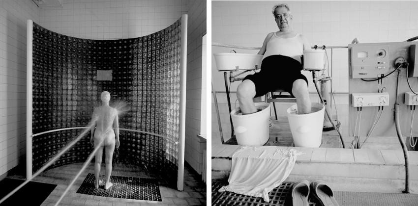 Ruth Kaplan - Shower, Duzniki-Zdroj, Poland, 1994 - Spa, Romania, 1995 (detail)