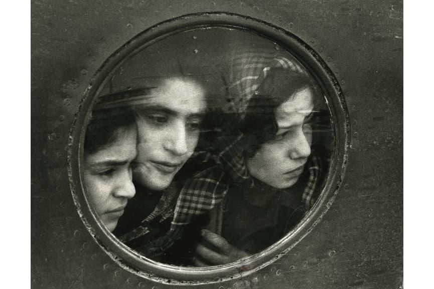 Ruth Orkin - Jewish Teenage Refugees from Iraq – Landing at Lydda Airport, Tel Aviv, Israel, 1951