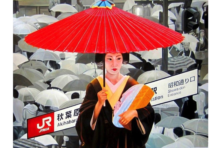 Ryoko Watanabe - red umbrella, 2011