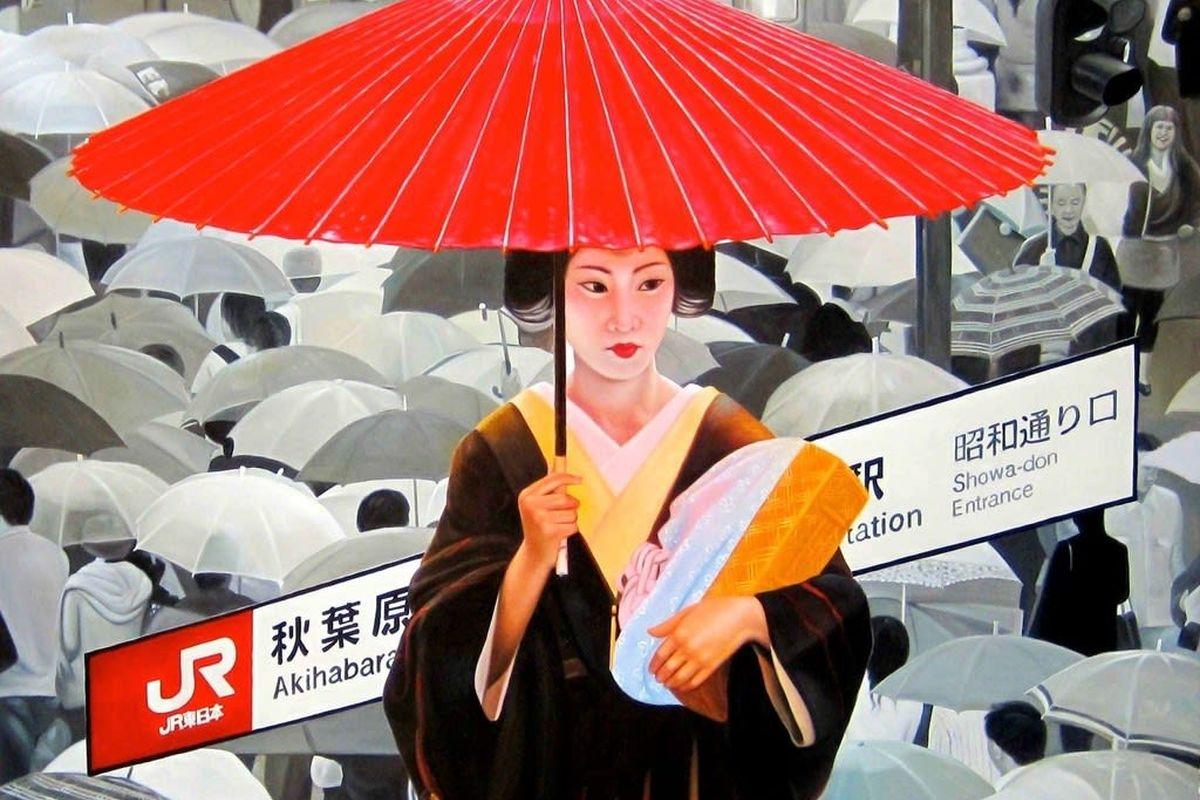 Ryoko Watanabe - red umbrella (detail), 2011