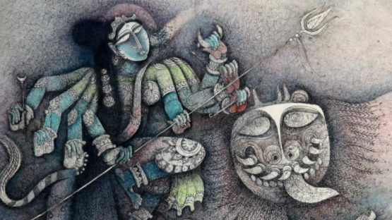 S.P. Jayakar - Kali, Image courtesy of the Addicted Art Gallery