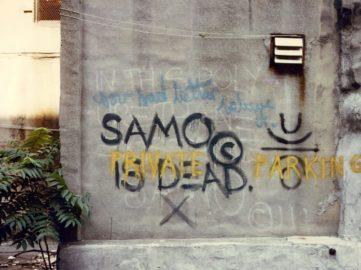 SAMO© is dead – private parking