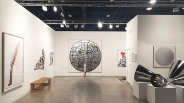 STPI's booth at Art Basel Miami Beach 2014