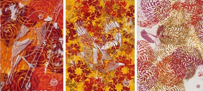 STeW - Orange Bird - Yellow Bird - Martin