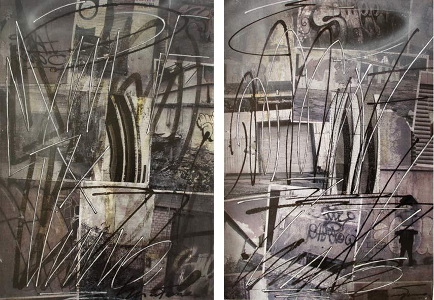 SWEETUNO - Greyzone 1.1, 2014 (left) Greyzone 1, 2014 (right)