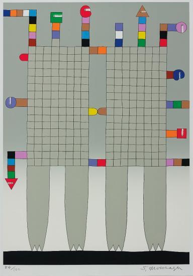 Sadamasa Motonaga-Untitled (4 works)-