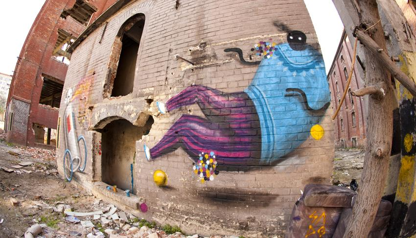 Saddo - mural in Bucharest