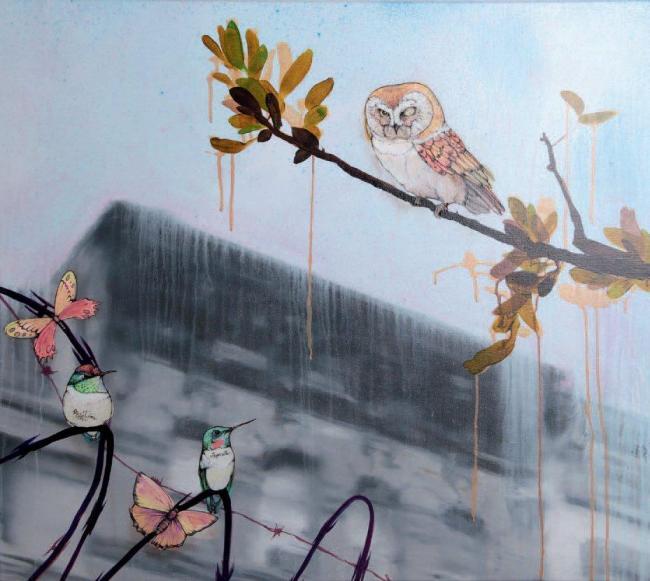 Sage Vaughn - Owl (81 x 91.5 cm)